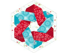 Knotty & Nizza quilt Block-Muster, Paper-pieced Quilt-Muster, sofortiger Download, keltische Knoten Muster, Hexagon Quilt Block, geometrische, Stern