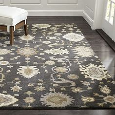 Juno Grey Wool Rug - 6' x 9' - $699 from Crate & Barrel