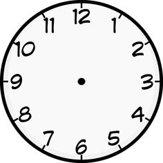 Blank clock - Clock Face Image Printable to Learn Telling Time – Blank clock Clock Worksheets, Worksheets For Kids, School Worksheets, Wall Clock Template, Blank Clock Faces, Wall Clock Numbers, Wall Clocks, Clock Face Printable, Face Template