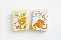 Rilakkuma Plasters  Standard Size : H1.8 × W7.3cm (30pcs)  Mixed Size H1.8 × W7.3cm (10pcs) H1.8 × W5.5cm (10pcs) H1 × W4cm (5pcs) 2.2cm (5pcs)   Brand : San-x  --  Packaging with box safely.  Shipped from Korea by Airmail. International shipping with tracking number.  Shippin...