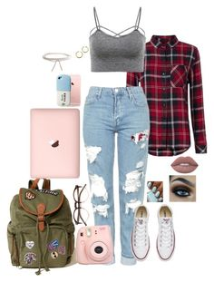 """""""This is me"""" by haymay2000 on Polyvore featuring Rails, Topshop, Converse, Hollister Co., Fujifilm, Wildfox, Humble Chic and Lime Crime"""