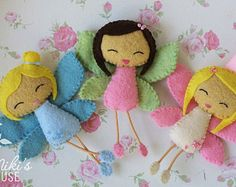 Fairy - felt doll - nursery decor