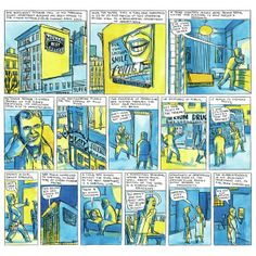 a Ben Katchor page, from my Print magazine interviews with graphic novelists about art education, comics digitization, and cartoon inspiration...