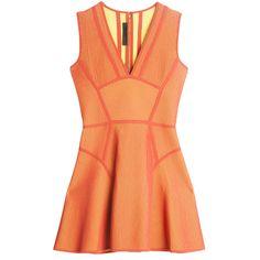 ELIE SAAB Flare Dress (233.680 HUF) ❤ liked on Polyvore featuring dresses, short dresses, vestidos, flare mini dress, elie saab, short red dress and red flared dress