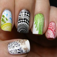 It's impossible to get bored with Pinterest user Pascale De Groof's #nailart. The detailed designs scream skill