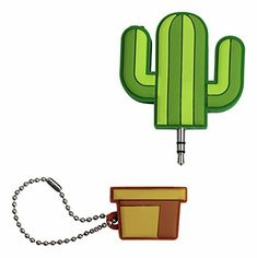 Cactus Audio Splitter Get your hands on this super bright, super fun Cactus Audio Splitter! This quirky Cactus Audio Splitter in a vibrant, multi-coloured Gadgets And Gizmos, Phone Accessories, Dog Tag Necklace, Cactus, Smartphone, Audio, Ebay, Jewelry, Office Decor