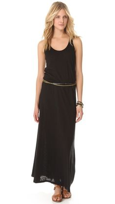 Velvet Gypsy Dress -  I also have my eye on this simple maxi and would wear it exactly as reader Desiree described earlier this week:   My favorite combo is a black maxi dress, brown leather sandals, wooden jewelry and a nice canvas bag - so easy.