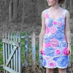 DIY Flower Dress by Stacie Stacie Stacie, via Flickr