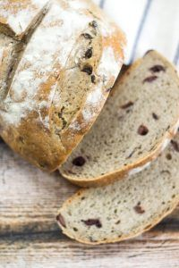 Salty olives add a depth of flavor to this rustic bread recipe!