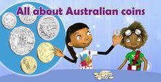 All about Australian coins - FTfs Australia For Kids, Curriculum, Homeschool, Cross Curricular, Student Information, Activity Sheets, Teaching Kids, Coins, Teacher