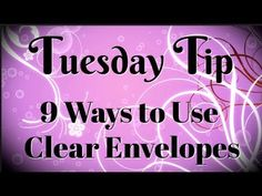 Today's Tuesday tip video features 9 ways to use clear envelopes! Have you noticed the clear envelopes in the Stampin' Up catalog on page They are easy . Card Making Tips, Card Making Tutorials, Card Making Techniques, Making Ideas, Craft Paper Storage, Envelope Punch Board, Envelope Design, Stampin Up Catalog, Stampin Up Cards