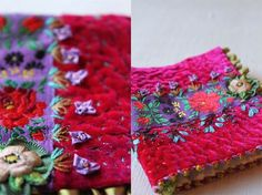 Cecile's Embroidered Needle Book