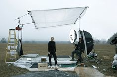 Annie Leibovitz and the giant diffuser