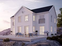 5 Elegant White Beach House Design Ideas For Life Better Elegant Home that Abounds with Beach House Decor Ideas, Abounds Beach Decor .Elegant Home that Abounds with Beach House Decor Ideas, Abounds Beach Decor Elegant White Beach Houses, White Houses, Houses Architecture, Architecture Design, Beach Cottage Style, Beach House Decor, Beach House Plans, House Goals, Beach Cottages