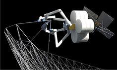 3D printing spiderfab factory in space developed for NASA - designboom | architecture & design magazine