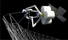 3D printing spiderfab factory in space developed for NASA - designboom   architecture & design magazine