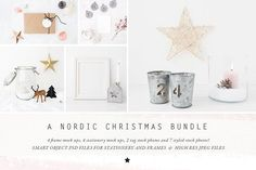 The Nordic Christmas mock up Bundle by White Hart Design Co. on @creativemarket
