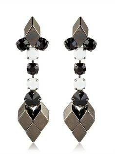 PERSY - BLACK & WHITE COLLECTION EARRINGS - LUISAVIAROMA - LUXURY SHOPPING WORLDWIDE SHIPPING - FLORENCE
