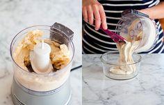 Receita de sorvete de banana super ultra fácil, com apenas 1 ingrediente, e de liquidificador Glass Of Milk, Good Food, Ice Cream, Lair Ribeiro, 1, Desserts, Gabriel, Drink, Cold Desserts