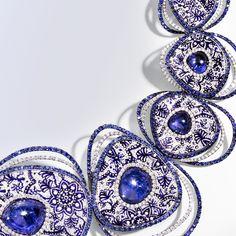 Cosmo #necklace #sicis #gold #diamond #micromosaic #sicis #sicisjewels #luxury #jewelry