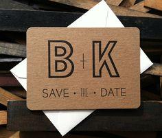 Wedding DIY Save the Dates  letterpress save the by BIMPRESSED, $105.00