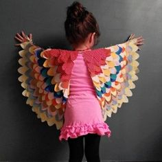 DIY bird wings. Totally worth adult-izing.