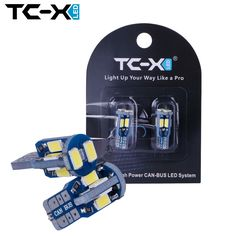 TC-X 2pcs Car Styling T10 LED Canbus W5W 10 leds 5730 SMD Bulb White 12V 6000K Interior Car Signal Lights for Parking Side Lamp