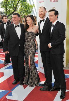 Steven Moffat, Lara Pulver, Mark Gatiss, and Andrew Scott