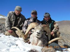 Bart Besaw with ram and hunting guides from Tagikistan