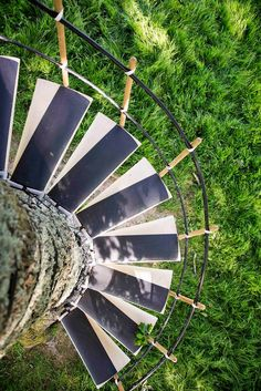 These Spiral Staircases Can Be Strapped On To Any Tree With Ease