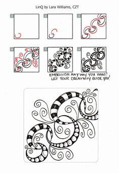 Lara Williams creator of my most FAVORITE EPIC #Tangles #ZentangleOriginals #ZentangleDesigns LINQLaralina: New Tangle: LinQ