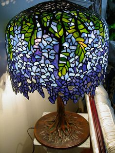 Tiffany wisteria stained glass lamp.
