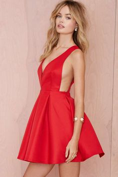 Pleat Elite Fit-and-Flare Dress - Going Out | Fit-n-Flare | Solid | Pop Of Color | All | Dresses | Clothes | All | The Sultry Siren