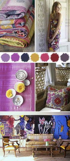 Contemporary, delightful purple palette for summer.