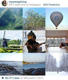 Thank you for following the holistic adventures of @MyEnergyLiving  I was curious to see what you liked most in 2017 and the result is this best nine. I still remember the caption for each picture: 1. Life inside the mountains 2. On my way back from Tyresta National Park. Soon it's summer! 3. My beginning as a project manager for a course programme in Stockholm 4. My incentive to move forward to renewable energies  5. How to be more creative with music  6. Our first Airbnb on a Norwegian…