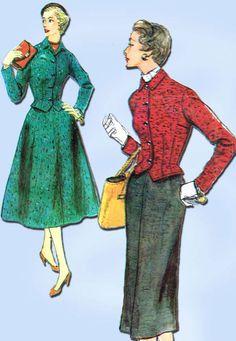 1950s Vintage Simplicity Sewing Pattern 4844 Uncut Misses Street Suit Size 12 #Simplicity #SuitPattern