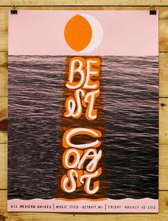 Best Coast Gig Poster by Warpaint