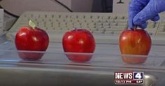Best method of fruit washing tested by apples