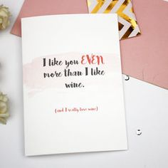 Personalised 'Even More Than' Card - valentine's cards