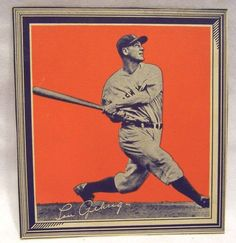 1935 Lou Gehrig Wheaties Series 1 Baseball Card Cereal Premium