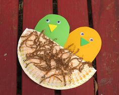 Preschool Bird Craft, We read books and did some great crafts. See blog post for details.