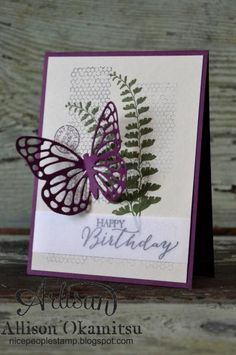 Butterfly Basics w/ Blackberry Bliss by AllisonStamps! - Cards and Paper Crafts at Splitcoaststampers