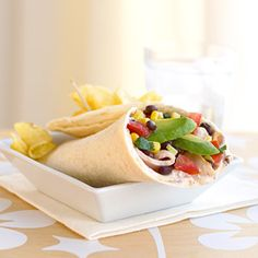 A lunch box favorite, this yummy wrap is enhanced with a flavorful black bean and corn salsa recipe. Prepare in less than 30 minutes from start to finish.