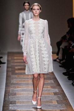Lovely lace at #Valentino.  #Paris #FashionWeek
