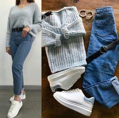8 celebrities who are not afraid to wear the same clothes in public and we admire them - Best DIY and Crafts Ideas Teenager Fashion Trends, Teen Fashion Outfits, Fashion Mode, Mode Outfits, Jean Outfits, Hijab Fashion, Korean Fashion, Simple Outfits, Trendy Outfits