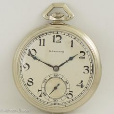 16s Pocket Watch 22 Jewel pilots, Navigators Precise 1947 Hamilton G.c.t Military