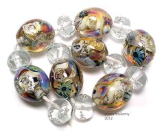 """Shipwreck Babies"" handmade glass lampwork beads by Sherry Bellamy"