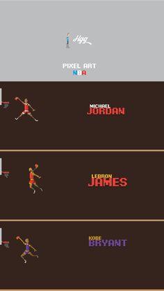 Pixel Art _NBA Historic Players on Behance