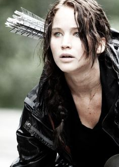 Totally prefer her with brown hair Jennifer Lawrence as Katniss Everdeen