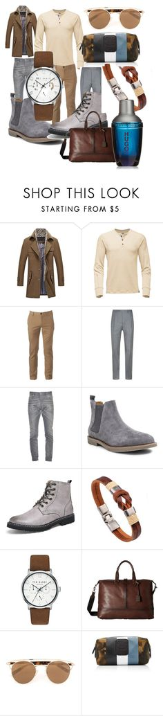 """""""# get#ready#for#winter#men#fashone#moda#"""" by hannazakaria ❤ liked on Polyvore featuring Urban Pipeline, Canali, Dsquared2, Steve Madden, Ted Baker, Frye, Topman, Ghurka, HUGO and men's fashion"""